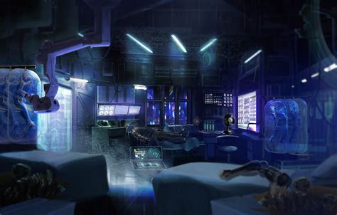 cyberpunk med clinic by axl99 on deviantart