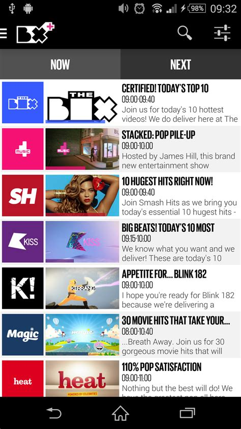 hotlist top 40 the box plus co uk appstore for android
