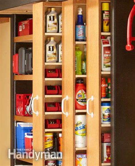 How To Make A Sliding Shelf by 20 Clever Basement Storage Ideas