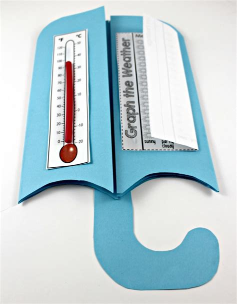 How To Make A Paper Thermometer - weather interactive science notebook tunstall s teaching