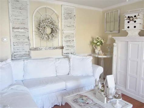 Decoration Shabby Chic Cottage Decor White Sofa Shabby Shabby Chic Cottage