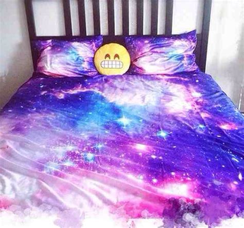 galaxy bed galaxy bed sheets and emoji pillow on the hunt