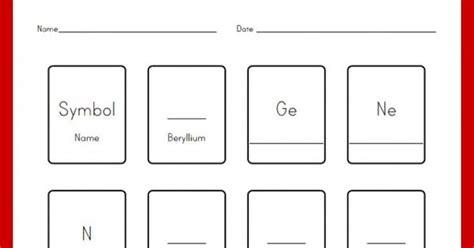 customizable and printable periodic table worksheet customizable and printable periodic table worksheet
