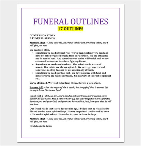 how to create a sermon outline template sermon outline template 12 for word and pdf format