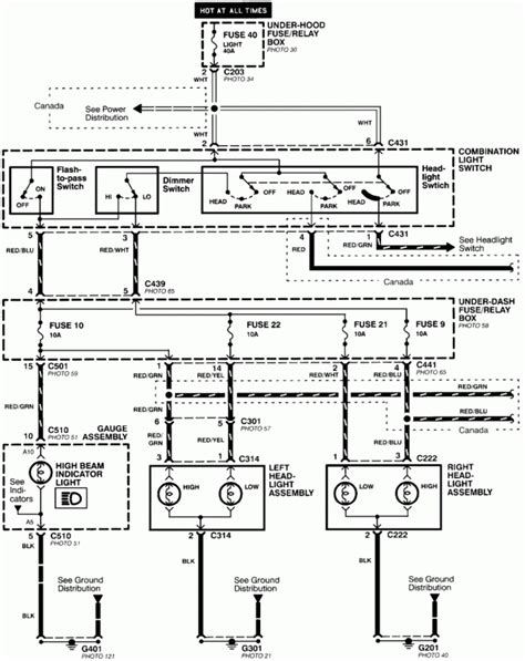 2001 honda accord lights wiring diagram fuse box