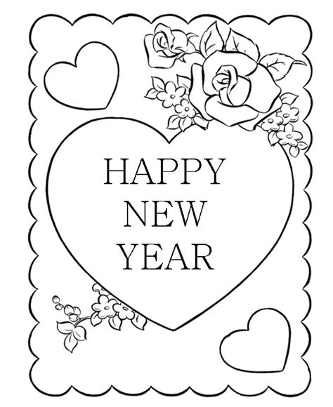 new year and color new years day coloring pages az coloring pages