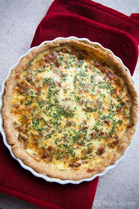 Quiche Lorraine Pie Large quiche lorraine quiche lorraine with a buttery crust and a tender filling with our favorite