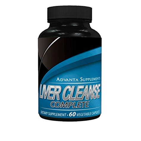Advanced Detox Solutions Pills Reviews by Liver Cleanse Complete Dietary Supplement 60 Capsules