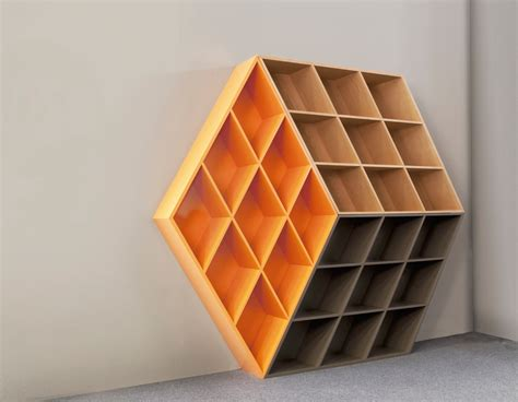 Bookshelf Furniture A Wooden Bookcase Inspired By The Rubik S Cube Design Milk
