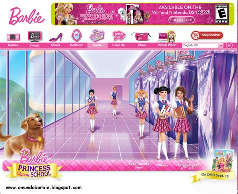 site da barbie site da barbie escola de princesas calend 225 rio