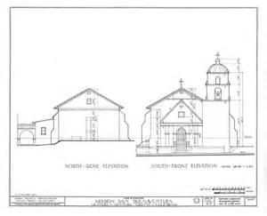 Mission Santa Cruz Floor Plan architectural drawings california missions resource center