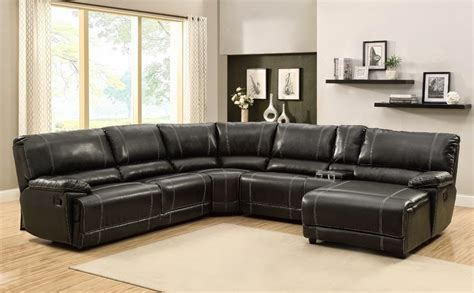 black sectional sofa with chaise the best reclining leather sofa reviews leather reclining