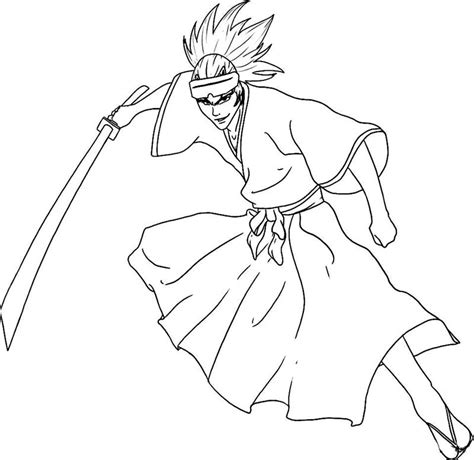 bleach coloring pages team colors