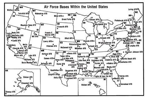 map us air bases air bases map air