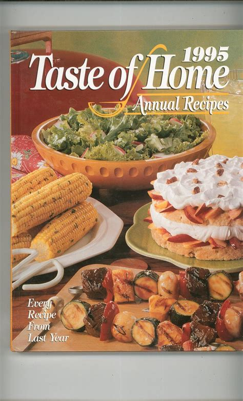 taste of home annual recipes 1995 cookbook 0898212960 298