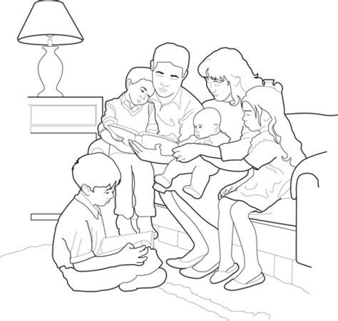 coloring pages for family home evening family home evening