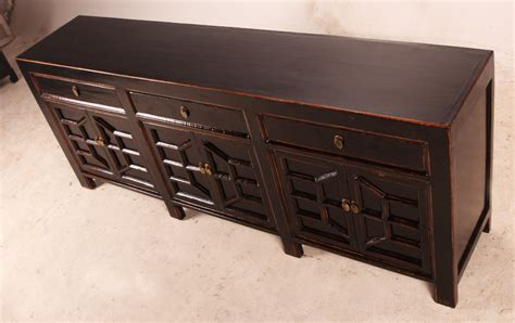 black buffet with drawers black media console cabinet sideboard with drawers