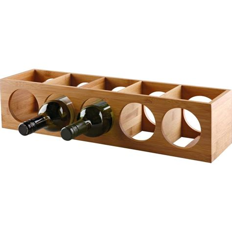 A Wine Rack by Living 10 Bottle Bamboo Wine Rack
