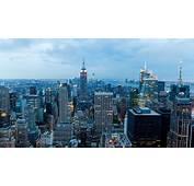 Downtown New York At Dusk 4K Ultra HD Desktop Wallpaper