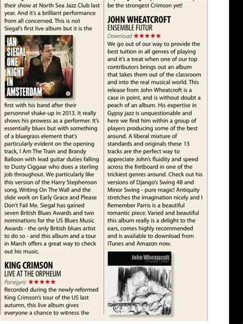 Cd Import Simon Wynberg Ensemble And Guitar Jazz Collection ensemble futur cd wheatcroft guitar