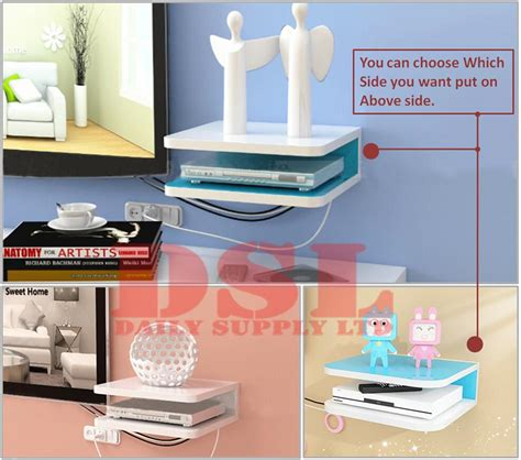 Router Shelf by Wall Mount Shelf Cube Sky Box Dvd Hifi Router Cable Tv Boxes Shelves Pink White Ebay
