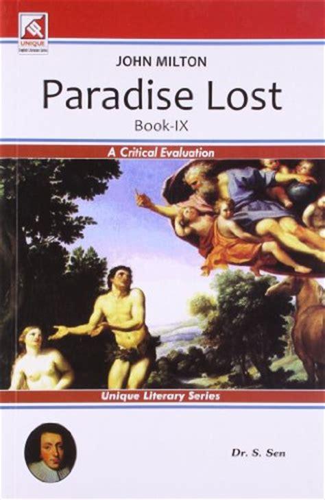 themes paradise lost book 9 john milton paradise lost book ix by dr s sen