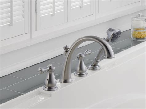 delta lorain brilliance stainless 2 handle 4 in faucet com t4775 ss in brilliance stainless by delta