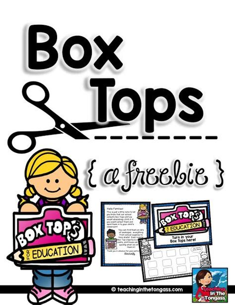 Parent Letter Box Tops Box Tops Parent Letters And Boxes On