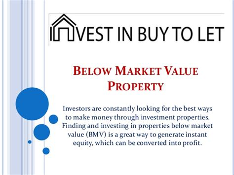 below market value property