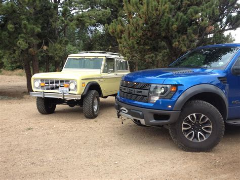 bronco raptor ford raptor meets a 1970 ford bronco for a winching demo