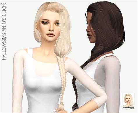 sims 4 cc hair my sims 4 blog anto cliche hair retexture in 64 colors by