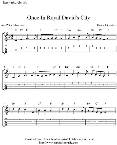 Superb Where Are You Christmas Sheet Music Pdf #7: Once-in-a-royal-davids-city-ukulele-tab.png