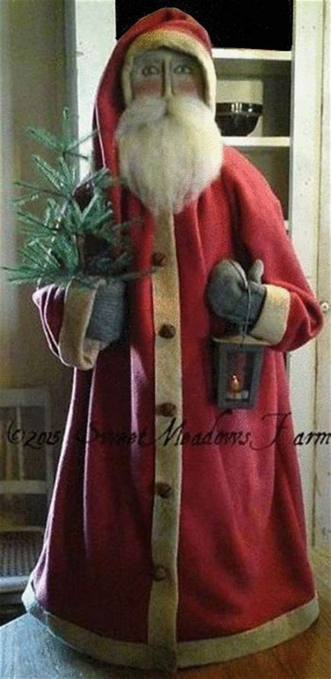 best 25 primitive santa ideas on pinterest prim