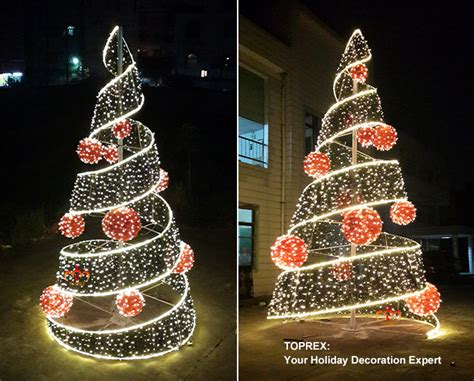out door ribbon spursl trees warm white outdoor decoration led spiral ribbon tree buy led spiral tree