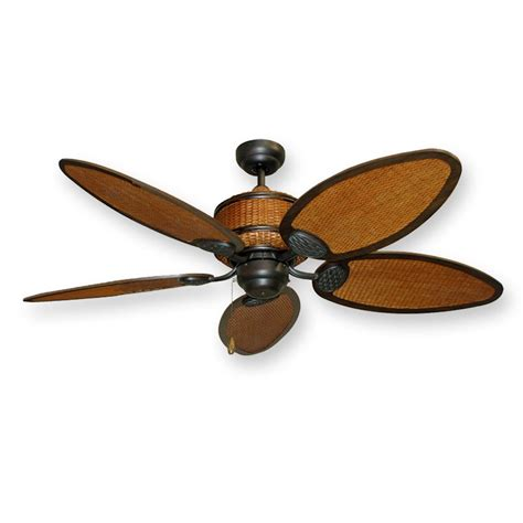 Wicker Ceiling Fans by Isle Tropical Ceiling Fan 52 Quot Real Rattan Blades