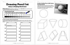 drawing pencil set value and shading worksheet create