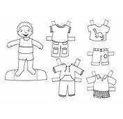 Dibujo Colorear Boy1 Doll  De Recortables Para