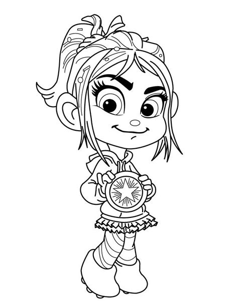 quot vanellope doesn t get a medal quot hannah coloring pages