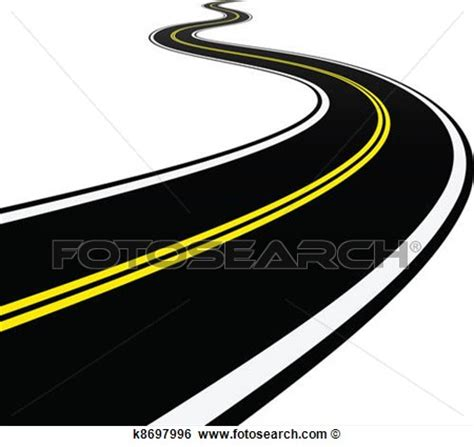 fotosearch clipart winding road clipart clipart suggest