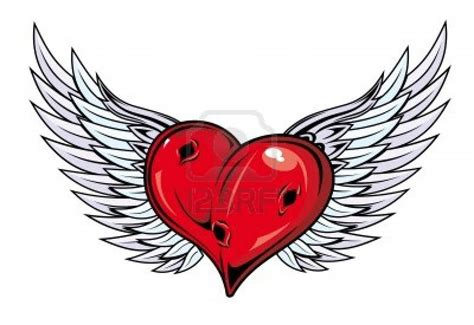 heart with wings tattoo designs 36 designs
