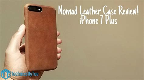 iphone   nomad leather case review youtube