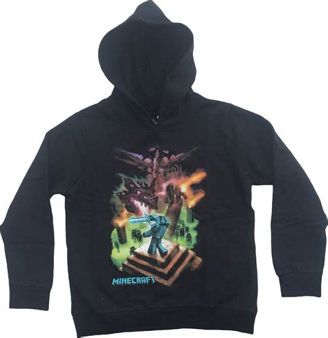 minecraft hoodie mine craft hoody official enderdragon youth black ebay