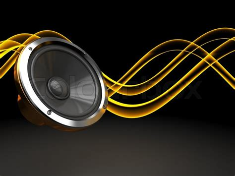 high energy free mp3 abstract 3d illustration of background with audio