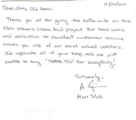 Sle Thank You Letter For A Well Done thank you letter to team for well done 28 images thank