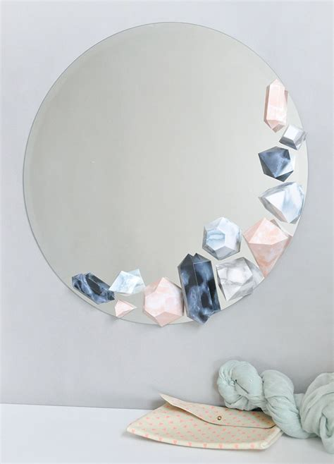 Mirror Craft Paper - diy faux mirror design sponge