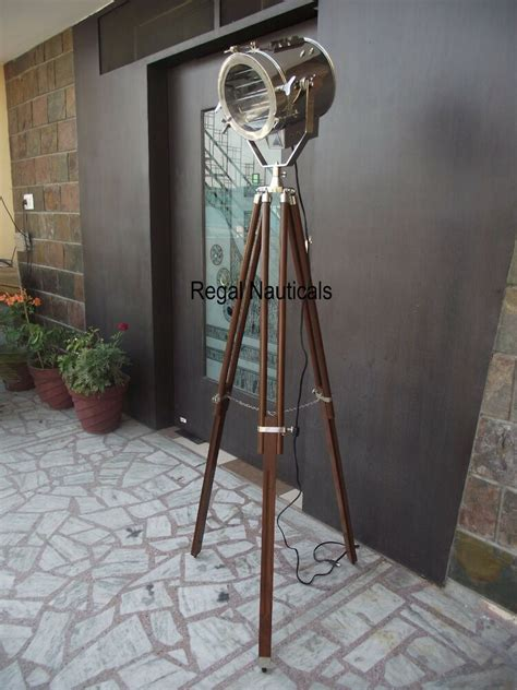 nautical designer studio floor lamp tripod searchlight home decor spot light ebay