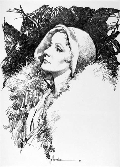 Greta Garbo 2 by José (Pepe) Gonzalez at the Illustration