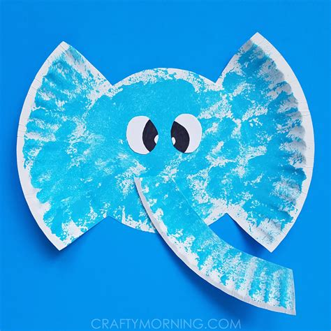 Paper Elephant Craft - paper plate elephant craft crafty morning