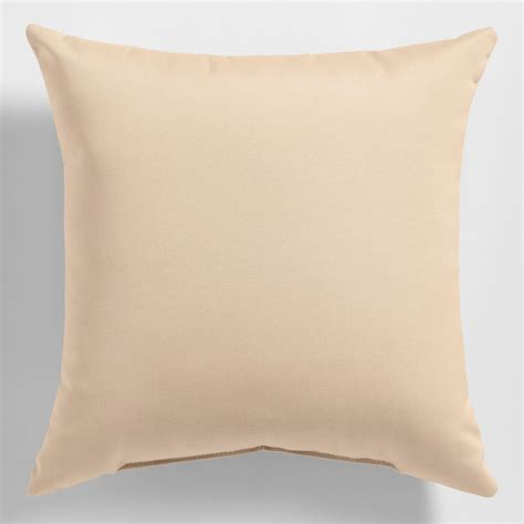 Canvas Pillows by Sunbrella Beige Canvas Outdoor Throw Pillow World Market