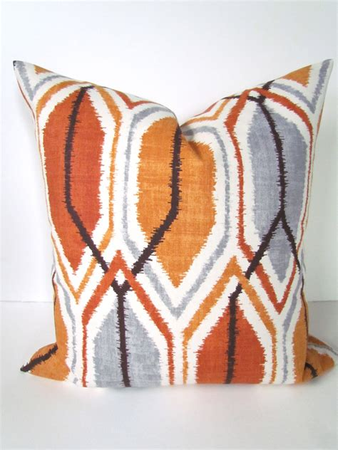 Copper Throw Pillow by Decorative Throw Pillows 24x24 Copper Orange By